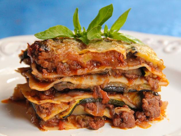 Lamb Lasagna with Eggplant and Zucchini